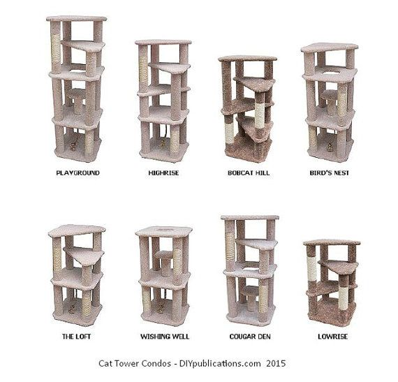 Cat Tree Plans by DIYPublications on Etsy