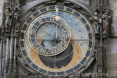 orologio astronomico da vicino