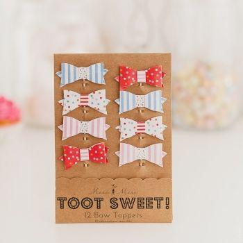 """Набор топперов """"Бабочки"""" Toot Sweet Топперы для капкейков и канапе в виде разноцветных бантиков отлично подойдут для украшения сладкого стола."""