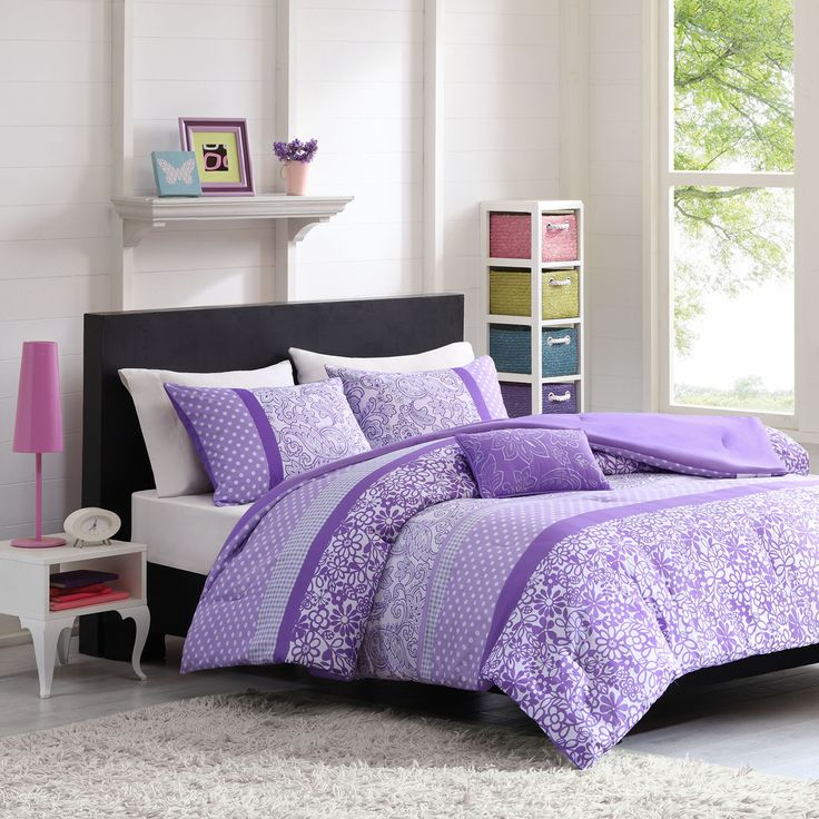 The Mizone Sadie comforter set provides a fresh look to any bedroom decor. The comforter's unique stripe design uses polka dots, paisleys and florals to create the perfect balance of contemporary style and youthful spirit.