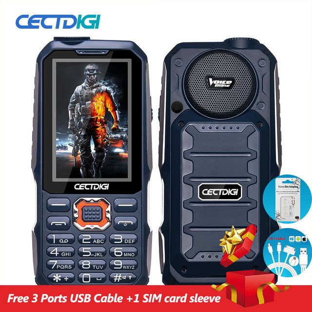 Buy now 3 Sim Card Phone Cectdigi T19 3D Stereo Speaker outdoor Rugged Mobile Phone Power Bank Wireless FM 16:9 HD Russian Keyboard Cell just only $41.33 - 49.79 with free shipping worldwide  #mobilephones Plese click on picture to see our special price for you