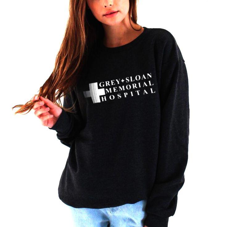 Cheap hoodies women, Buy Quality pullover hoodie directly from China sweatshirt grey Suppliers: Grey'S Anatomy Sweatshirt Grey Sloan Memorial Hospital Hoodie Women Casual Long-Sleeved Pullovers Hoodies
