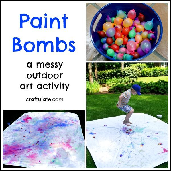 make messy art outside this summer with these paint bombs - Fun Pictures To Paint