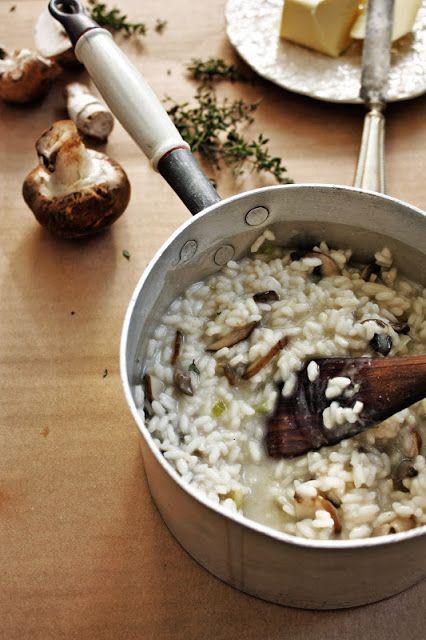 Risotto de cogumelos e tomilho * Cremini mushrooms and thyme risotto