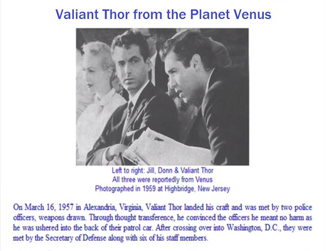https://youtu.be/e-7kE8JPwtk https://youtu.be/RApR2SFnclI Here are some links of interest pertaining to Val Valiant Thor http://www.bibliotecapleyades.net/bb/stranges.htm https://thoseconspiracyguys.com/stranger-at-the-pentagon-the-story-of-valiant-thor/ http://www.galactic-server.com/rune/valienthor.html via &copy Copyright 2017 Take Care 4, All rights Reserved. Written For: Take care Continue Reading →  Valiant Thor advised the president for 3 years before leaving.