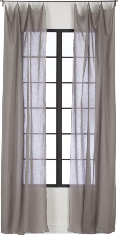 Grey Linen Bed Valance : Ideas about grey curtains bedroom on