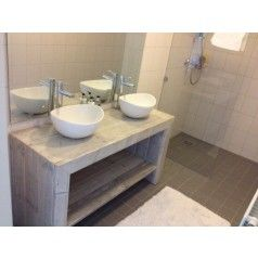 Badkamermeubel van steigerhout Enschede