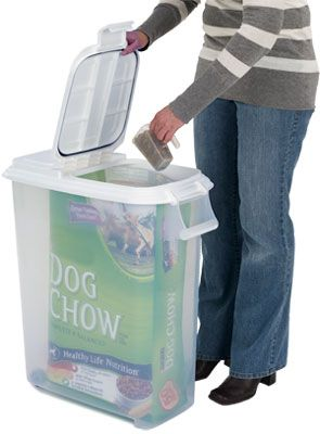 50 qt. dog food dispenser for up to 45 lbs of food
