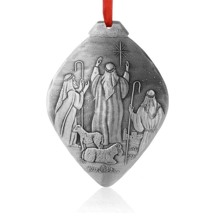 The religious Nativity Christmas Ornament Shepherds is a unique Christian  gift handcrafted by the artisans at Wendell August.