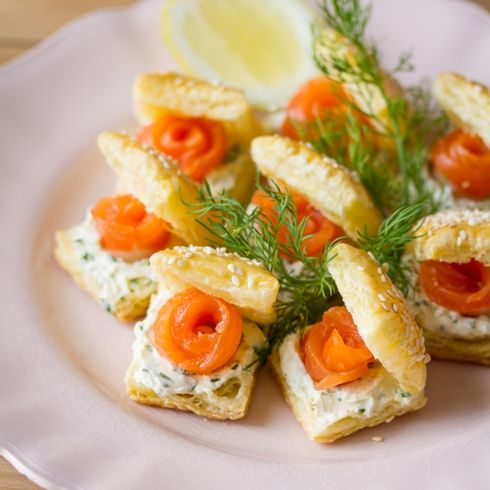 Smoked trout puffs