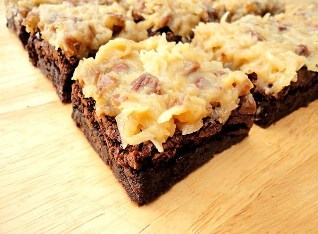 German Chocolate Brownies - Brownies are always tasty, but this German ...