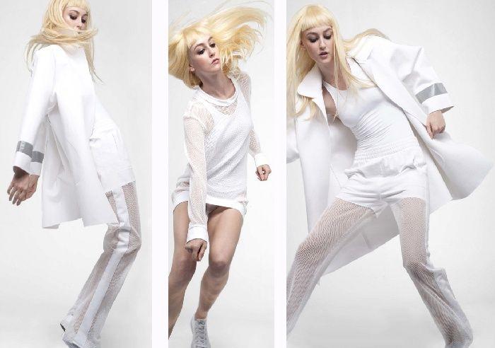 Модная коллекция весна-лето 2017: женская летняя белая одежда в спортивном стиле