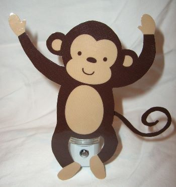 Adorable Jungle Monkey Nursery Night Light by DebbysCrafts on Etsy