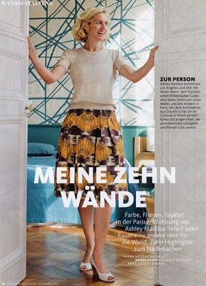 Ashley Maddox, Founder of Studio Maddox, as featured in Germany's Schøner Wohnen Magazine (October 2015)