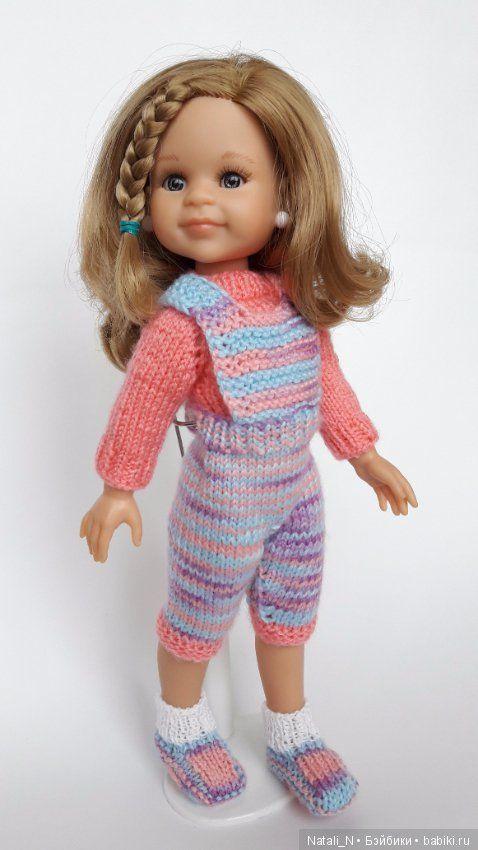 Комплект для Paola Reina, бриджики на лямках и розовенький свитерок. / Одежда для кукол / Шопик. Продать купить куклу / Бэйбики. Куклы фото. Одежда для кукол