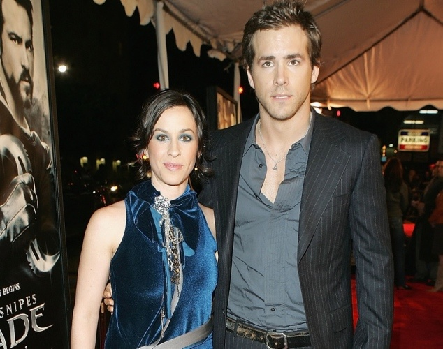 COMPLETELY FORGOT THEY DATED!!!!While it may seem like an odd coupling, Hollywood heartthrob Ryan Reynolds and indie rocker Alanis Morissette were once engaged. The couple met in 2002 and dated for two years before getting engaged in 2004. But in 2006, things started to go sour and the pair briefly split in June. However, it wasnt until February 2007 that the former sweethearts made their split official.