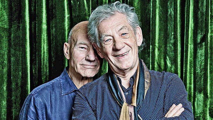 I meet Sir Ian McKellen and Sir Patrick Stewart at a little café by Hampstead Heath station. They are sitting outside with the director Sean Mathias,…
