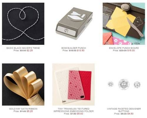 New Stampin' Up Weekly Deals! Includes the Envelope Punch Board and Bow Builder Punch!