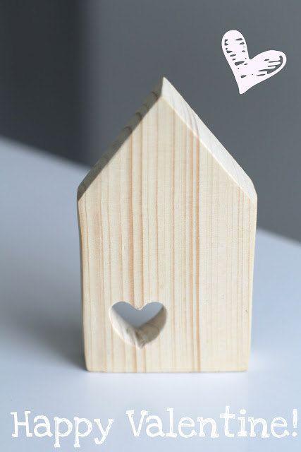 Houten huisje met hartje - Suus #LoveEtsyNL #Valentijn