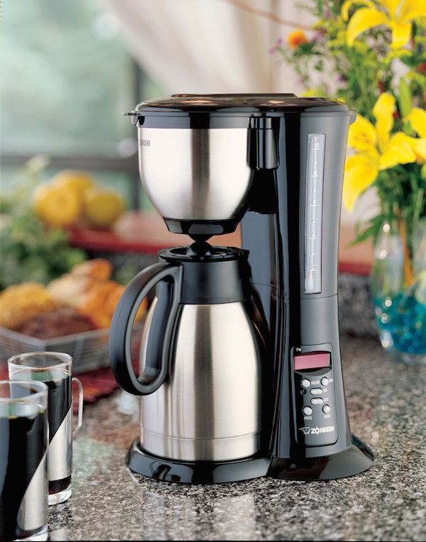 The Zojirushi Fresh Brew is one of the best, traditional drip coffee makers at a great price. 10 cups in 10 minutes, and the thermal pot keeps it warm without scorching it.