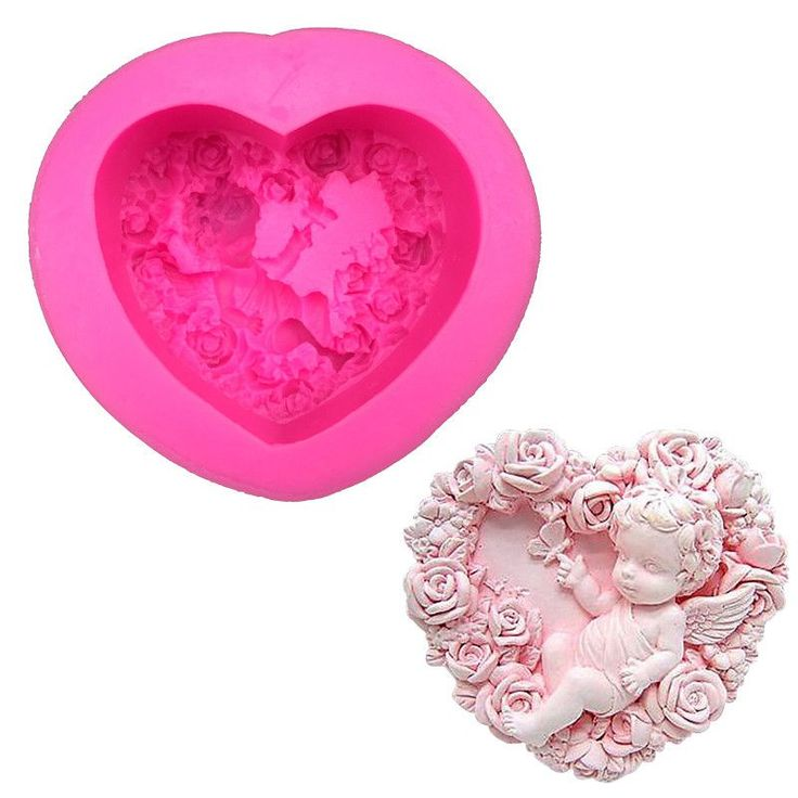 Heart Shaped Angel Boy Silicone Mold