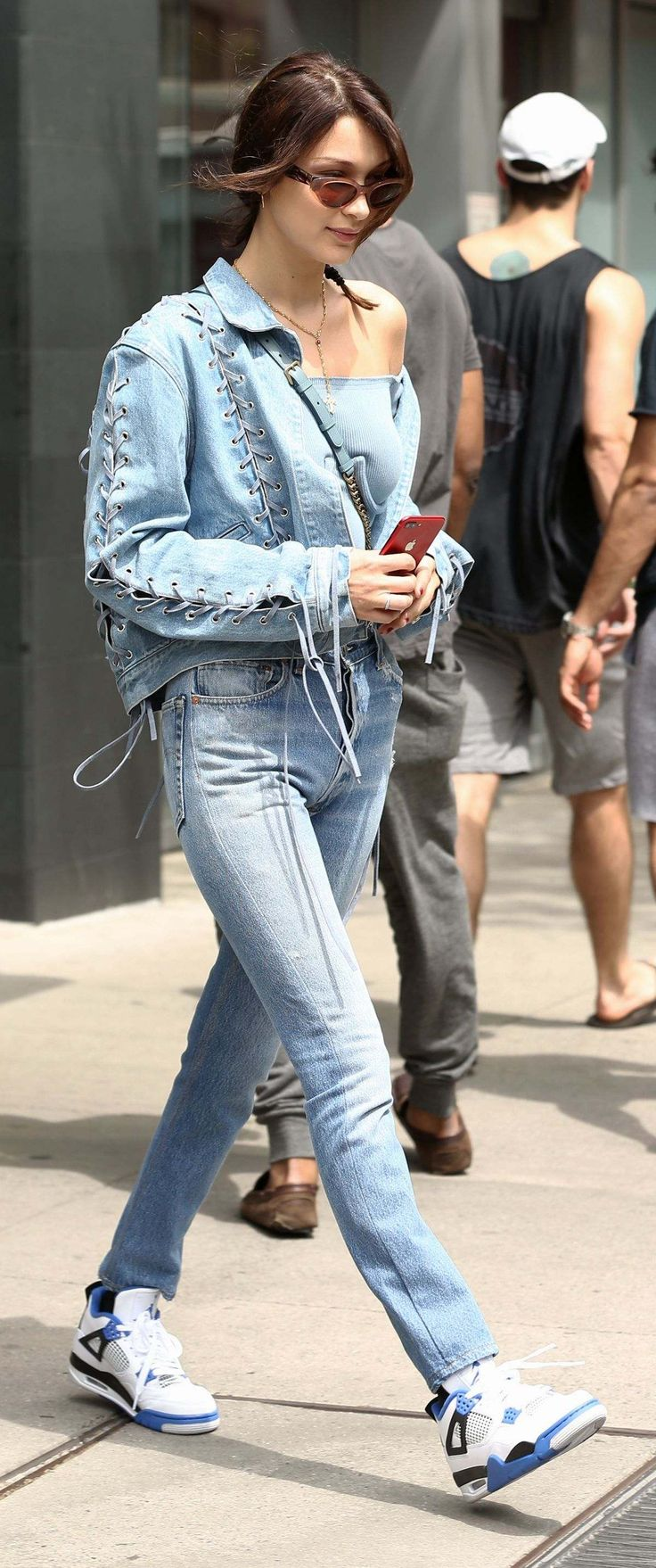 Bella Hadid In Jeans leaving Her Apartment In New York