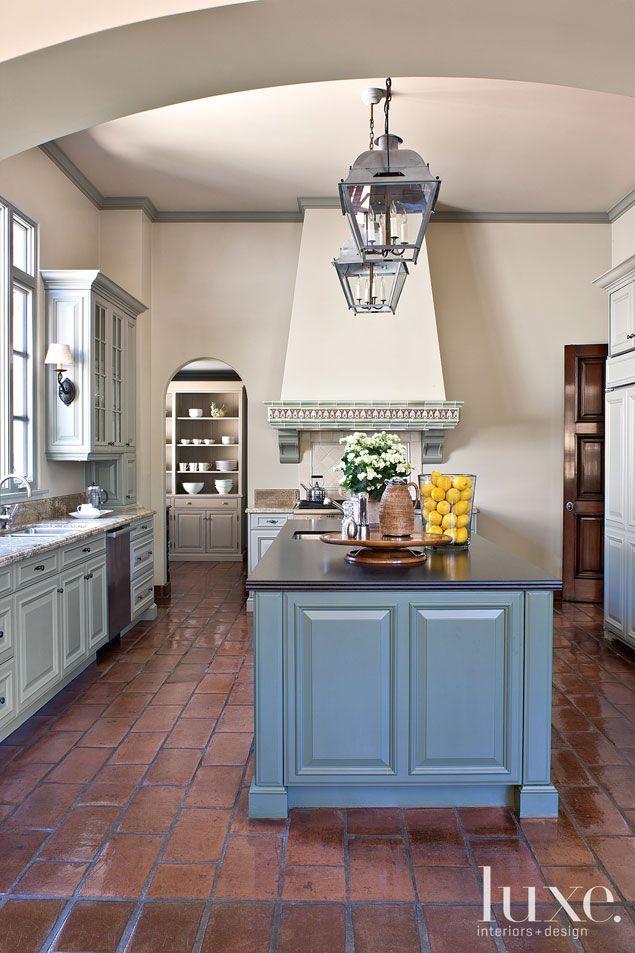 Dennis Gibbens Dennis Gibbens Architects And Cheryl Brantner Brantner Design Brick Kitchen Floorsbrick Tile