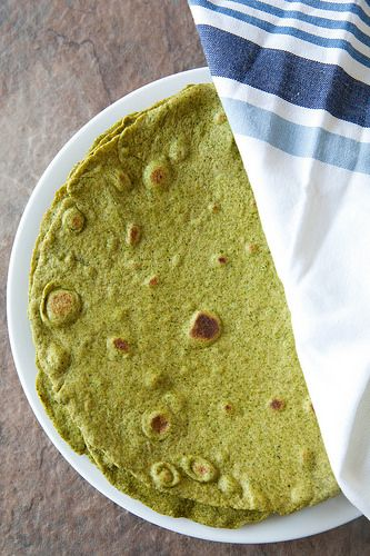 Homemade Spinach Wraps | Annie's Eats  this is also has a link for how to make corn tortillas and flour tortillas as well.