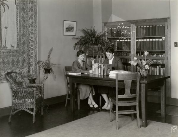 1933 Image Of Students Studying At Milwaukee Downer College Source Wisconsin Historical Society