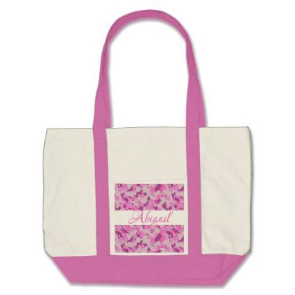 HAMbyWG - Tote Bag - Pink Camouflage - baby gifts child new born gift idea diy cyo special unique design