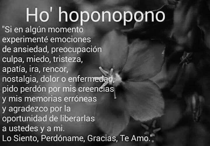 Lo siento perdón gracias te amo #ho'oponopono