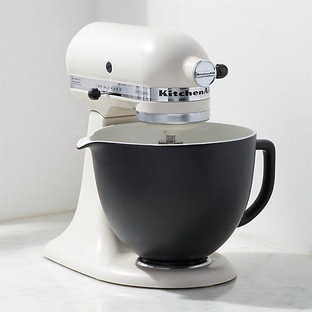 Kitchenaid Ceramic Matte Black Bowl Reviews Crate And Barrel