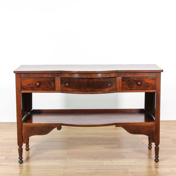 Antique Mahogany Sideboard Buffet   Loveseat Vintage Furniture San Diego & Los Angeles
