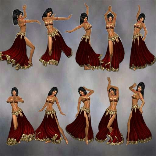 Belly dance poses