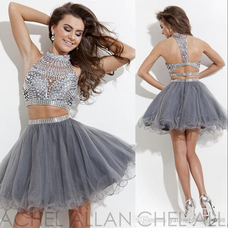Free shipping, $106.27/Piece:buy wholesale 2014 Halter A-line Silver Organza Beaded Crystal Two Pieces Mini Short Graduation Gowns Cocktail Free Shipping Homecoming Dresses from DHgate.com,get worldwide delivery and buyer protection service.
