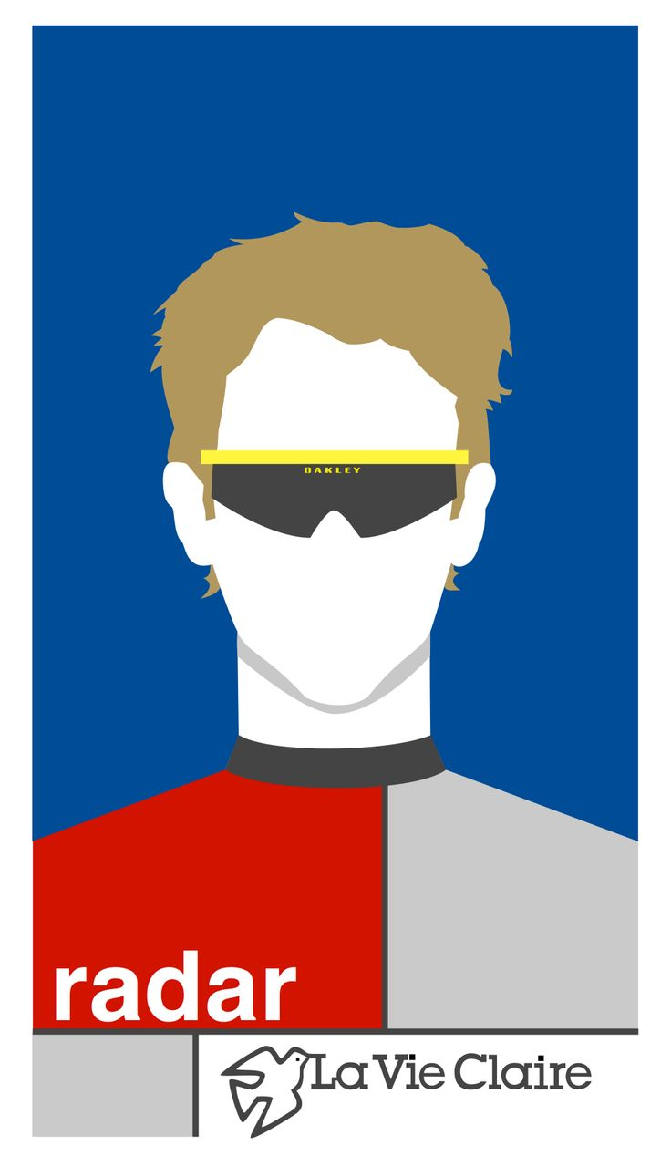 An illustration of Greg Lemond, created using Sketch