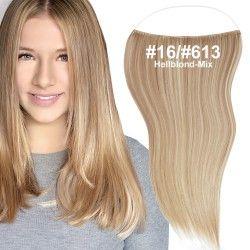 flip in extensions,hellblond-mix,#16-#613,50cm,strähnchen, haarverlängerung selber machen