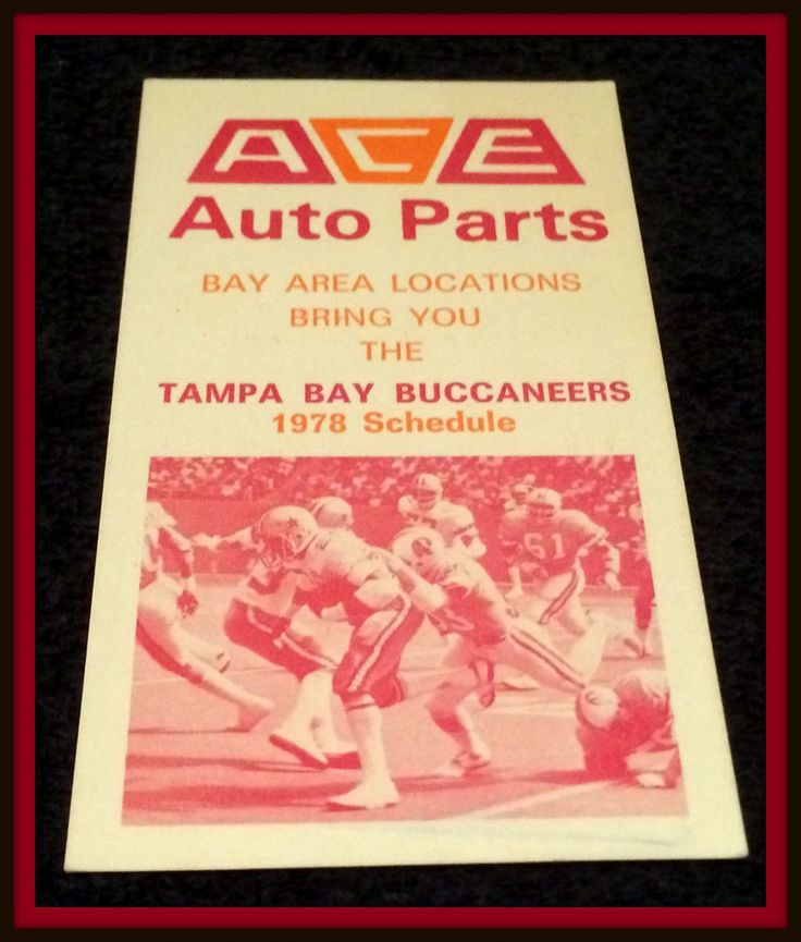 1978 TAMPA BAY BUCCANEERS ACE AUTO PARTS FOOTBALL POCKET SCHEDULE FREE SHIPPING #Pocket