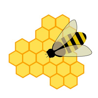 Bumble Bee Clipart Image Brightly Colored Cartoon Honey On The Wing