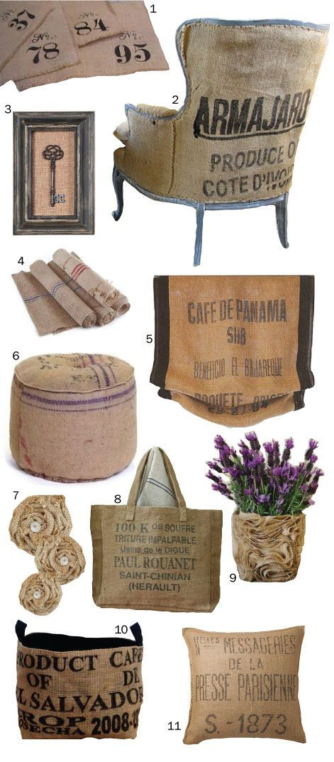 26 Best Coffee Bag Crafts Images On Pinterest Burlap