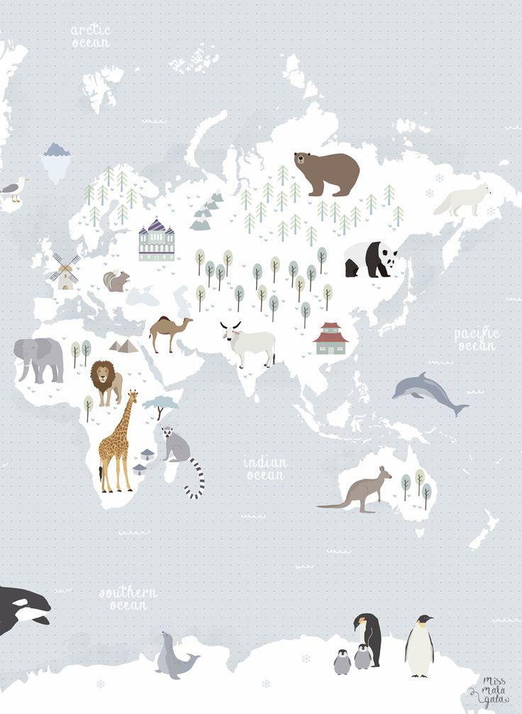 animal map   missmalagata