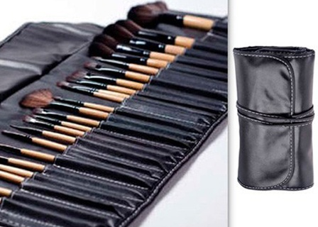 YipDeals - $23 for a 24-Piece Makeup Brush Set with a Carrying Case ($175 value)