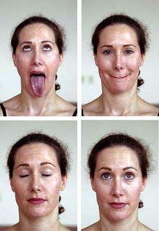 Face yoga. AKA funny faces :) brought to you by: http://www.facialtonermachine.com
