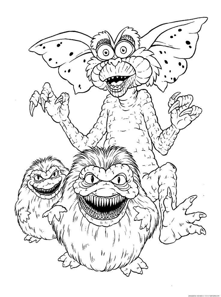 Gremlin Coloring Pages For Kids Gremlins Pinterest