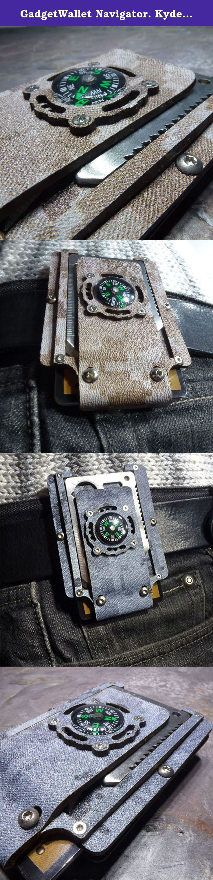 GadgetWallet Navigator. Kydex Tactical Wallet With beltclip, multitool and functional compass. GadgetWalet Compass Simplicity is the ultimate sophistication. Utilizing the flexibility of the material itself, this innovative wallet does not require rubber bands to hold it together. This GadgetWallet has a standard issue stainless steel multitool and a functional liquid filled compass. Please keep in mind that in order to get an accurate reading from the compass you will need to remove the...