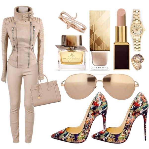 THIS IS SO ME by nikkifresh72 on Polyvore featuring polyvore fashion style Patrizia Pepe Christian Louboutin Yves Saint Laurent Roberto Coin Linda Farrow Tom Ford Burberry Rolex