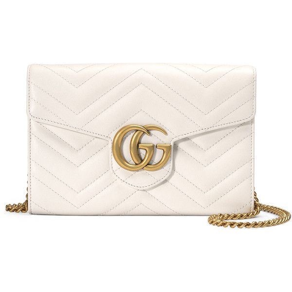 Gucci GG Marmont Mini Matelass& Chain Bag (29.537.330 VND) ❤ liked on Polyvore featuring bags, handbags, shoulder bags, handbags crossbody bags, white, gucci crossbody, mini crossbody, crossbody purses, leather shoulder handbags and leather man bags