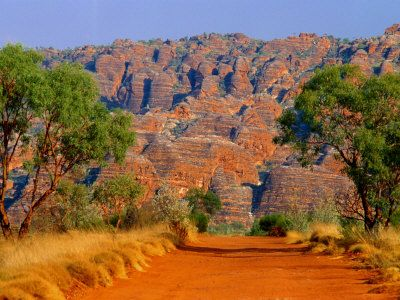 Bungle Bungles, Western Australia. And yes, this is an accurate depiction of the colours!