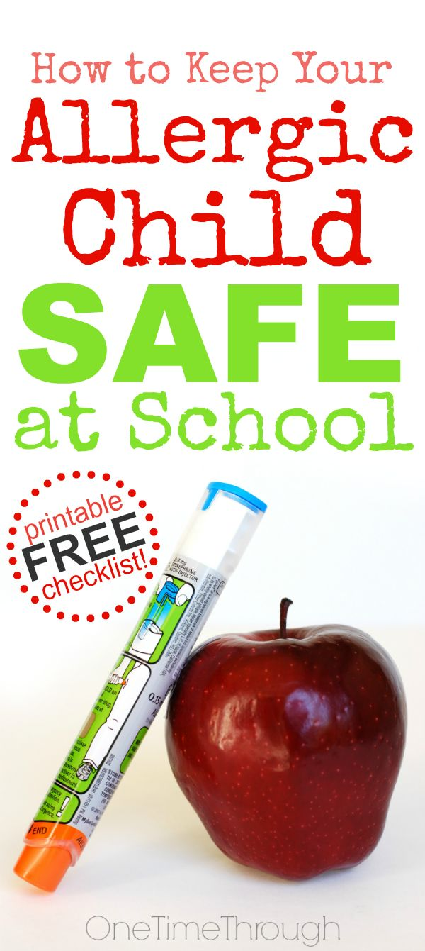 ***PLEASE PIN - this could SAVE a CHILD's LIFE!*** Does your child have a severe food allergy or peanut allergy like mine? Are they heading off to school this fall? Find a free printable checklist of questions to ask classroom teachers and administrators of your child's school to help keep your child safe! {One Time Through}