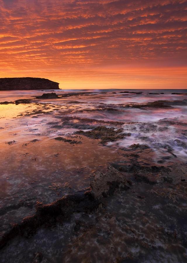 ✮ Unbeleivable sunrise reflects in the tidepools at Pennington Bay on Kangaroo Island, South Australia